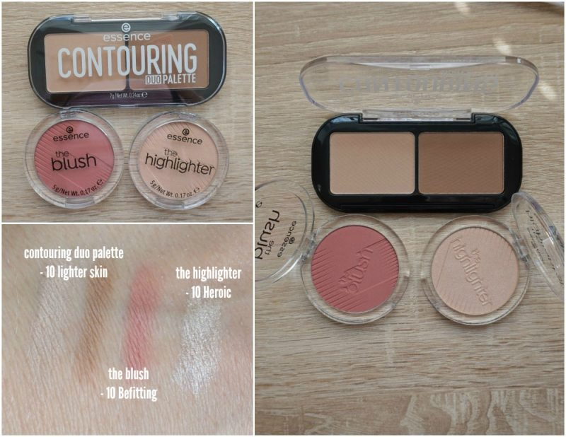essence cosmetics contouring duo palette the blush the highlighter