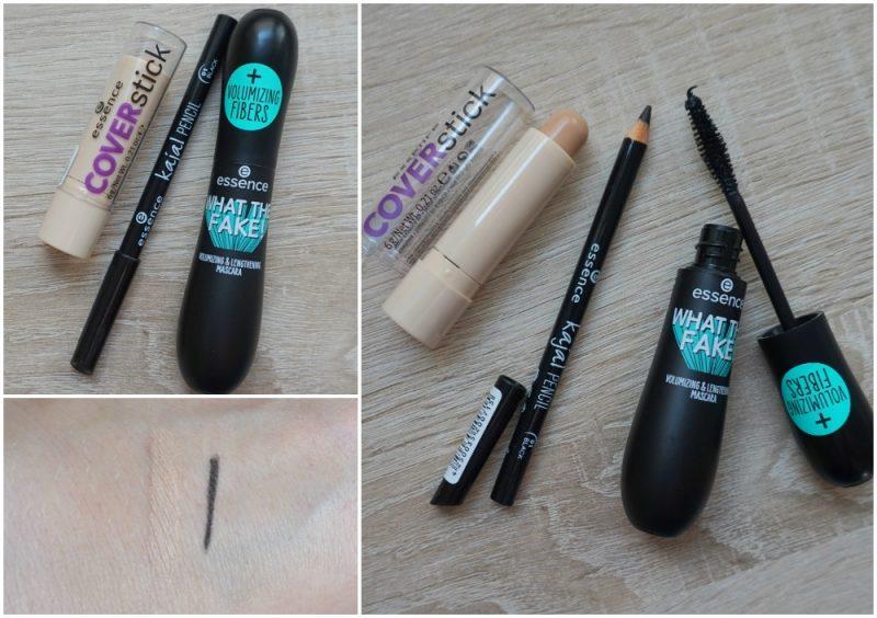 Essence Cosmetics Cover Stick, Kajal Pencil, What The Fake Mascara