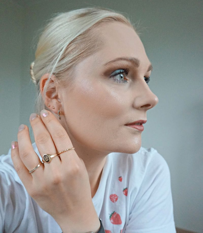 gold rings and earrings