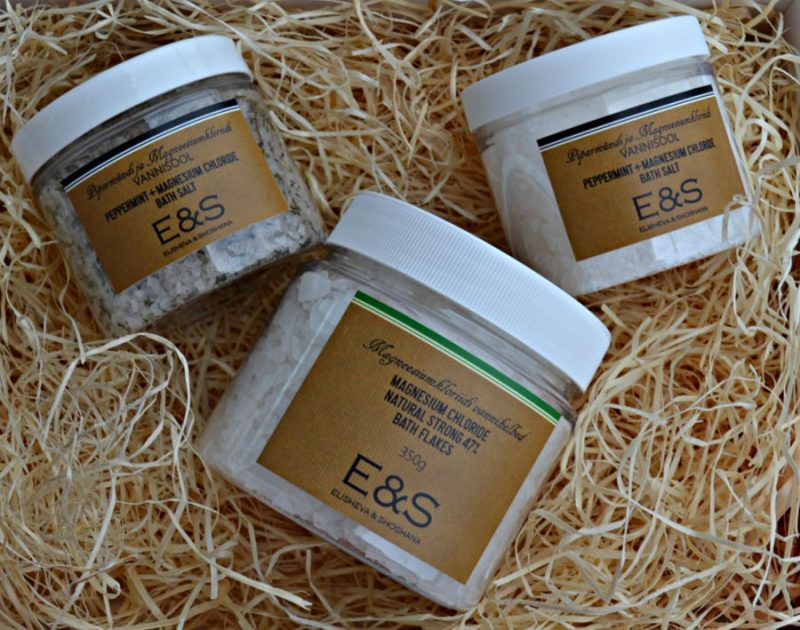 Elisheva & Shoshana Magnesium Chloride bath salts & Natural Strong 47% bath flakes