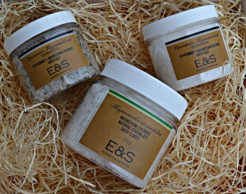 Elisheva & Shoshana Magnesium Chloride bath salts & Natural Strong 47% bath flakes