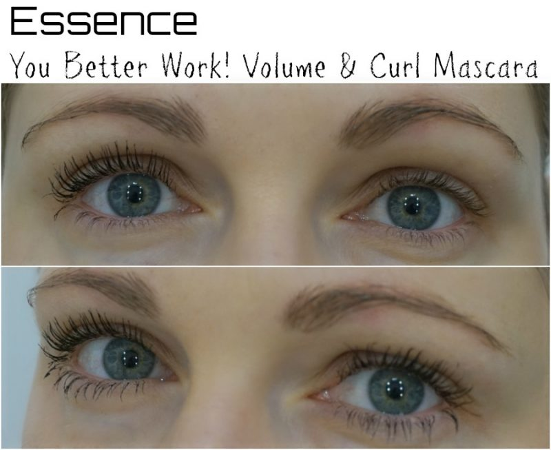 Essence You Better Work Volume Curl Mascara before after
