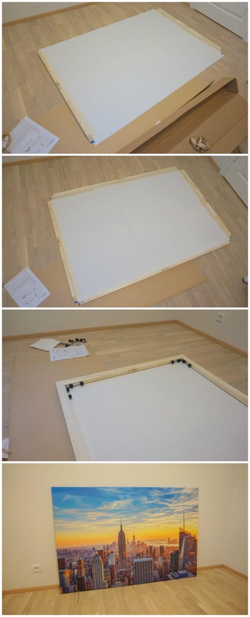 assembling photowall canvas print