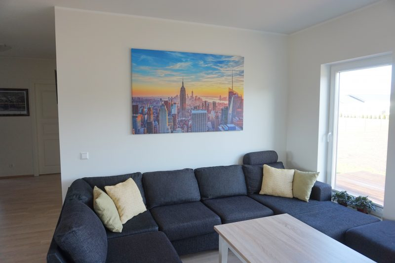 photowall new york canvas print in living room