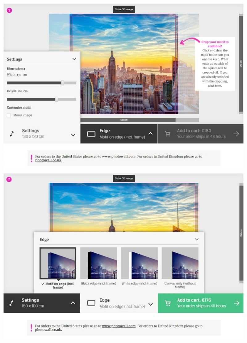 placing Photowall order