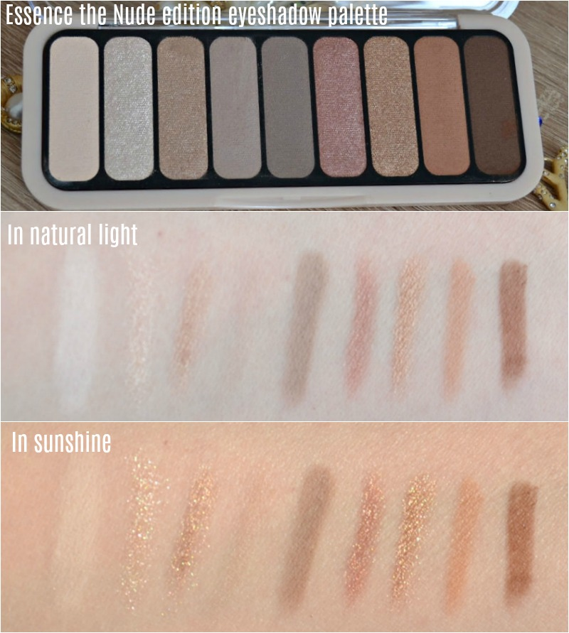 Essence the Nude edition eyeshadow palette swatches