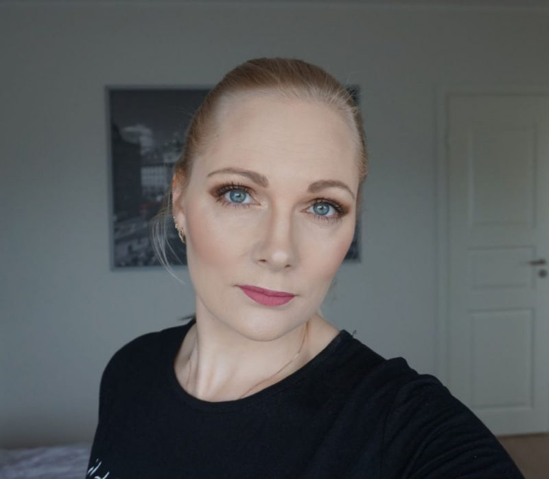 neutral makeup look featuring essence cosmetics makeup products