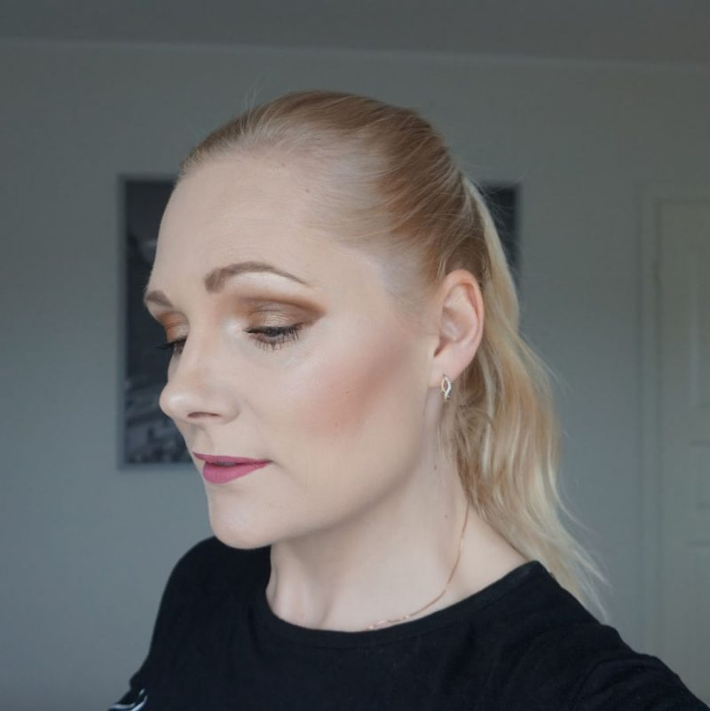 neutral brown makeup look with essence cosmetics