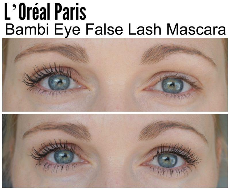 L'Oréal Paris Bambi Eye False Lash before and after