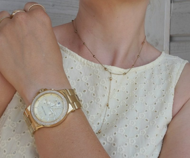 Michael Kors watch and Happiness Boutique necklace