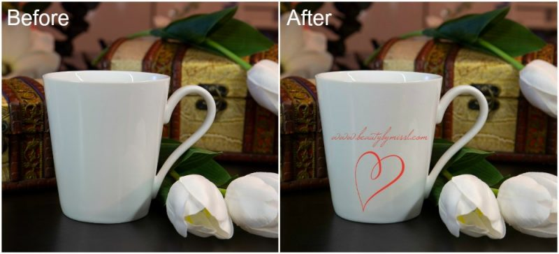 coffee mug mockup template before and after