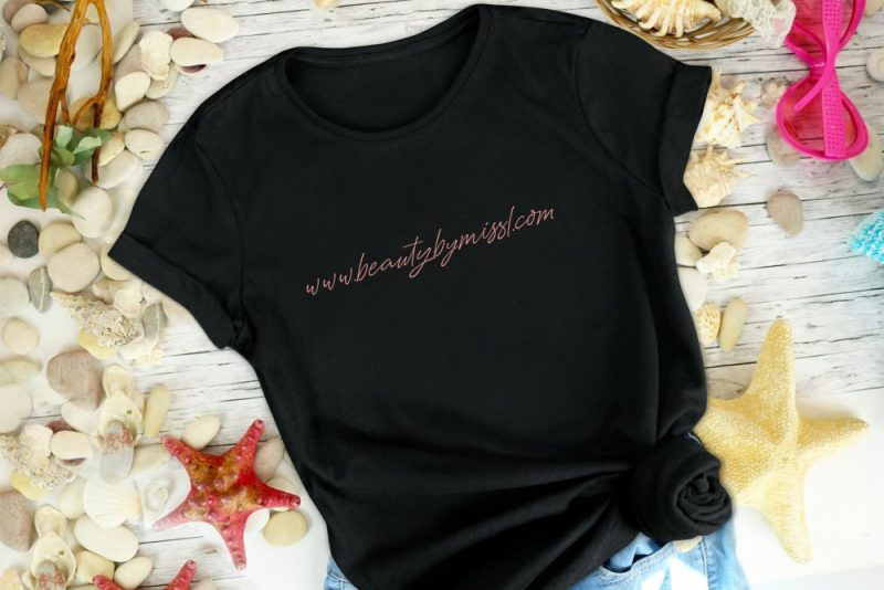 black personalised t-shirt