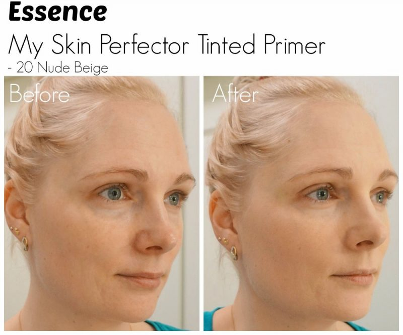 Essence My Skin Perfector Tinted Primer before after