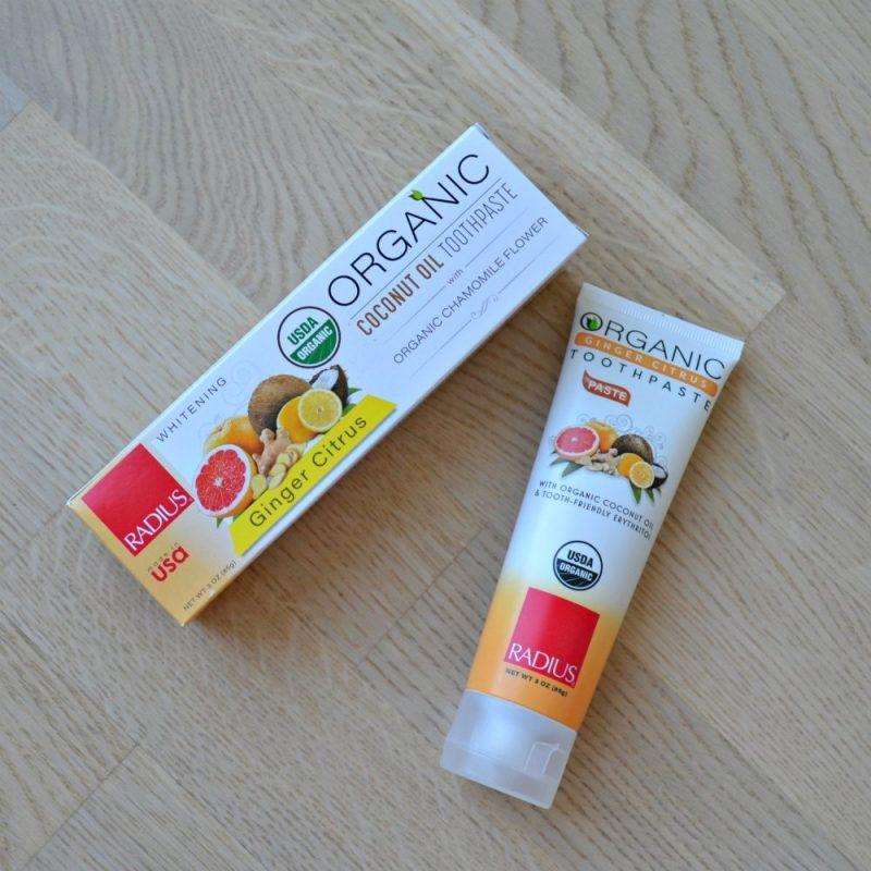 Radius Organic Coconut Toothpaste Ginger Citrus