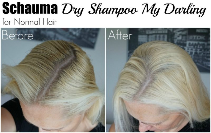 Schauma Dry Shampoo My Darling for Normal Hair before after