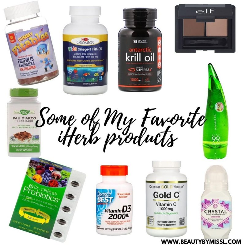 some of my favorite products from iHerb