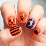 Simple Halloween nails