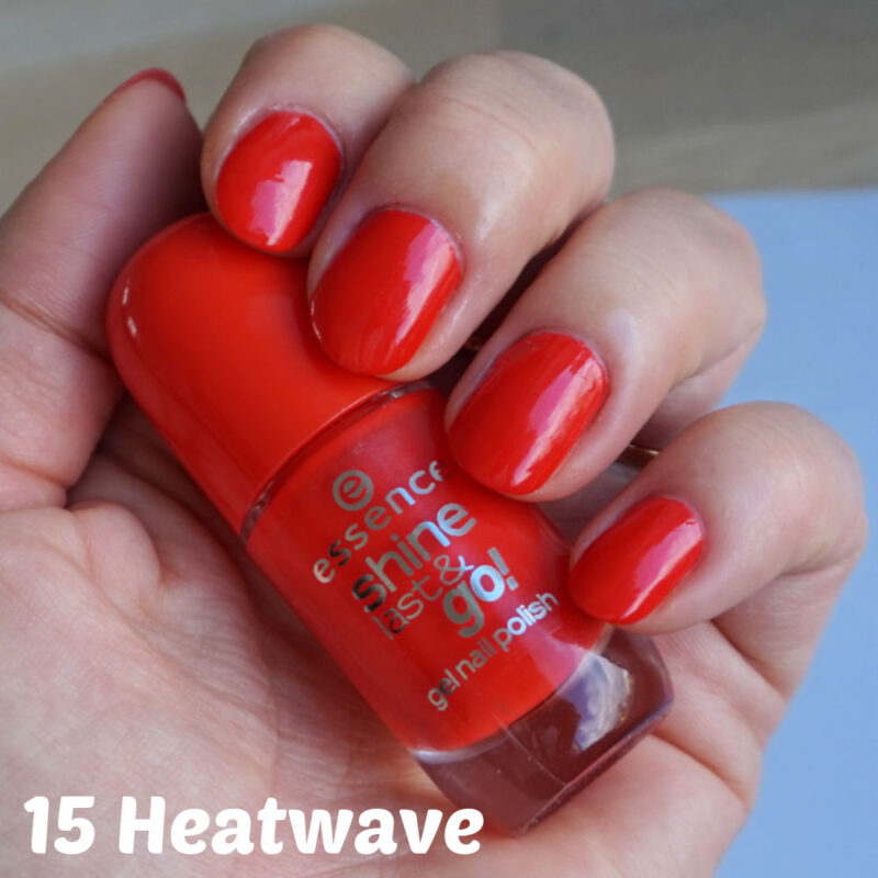 Essence Shine Last & Go gel nail polish 15 heatwave