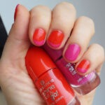 Simple Red and Fuchsia Nails