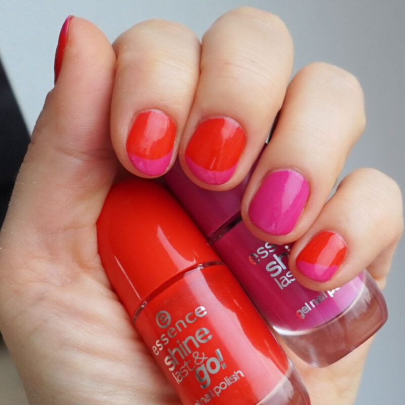 red and fuchsia nails