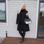 Black pencil skirt and black high neck jumper & weekly linkup