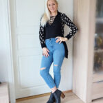 Ripped skinny jeans & lace-up bodysuit & Weekly LINKUP #198