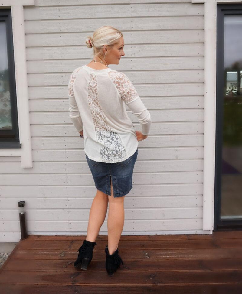 white lace detail jumper