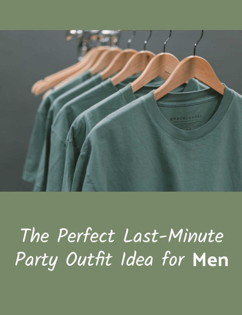 The Perfect Last-Minute Party Outfit Idea for Men