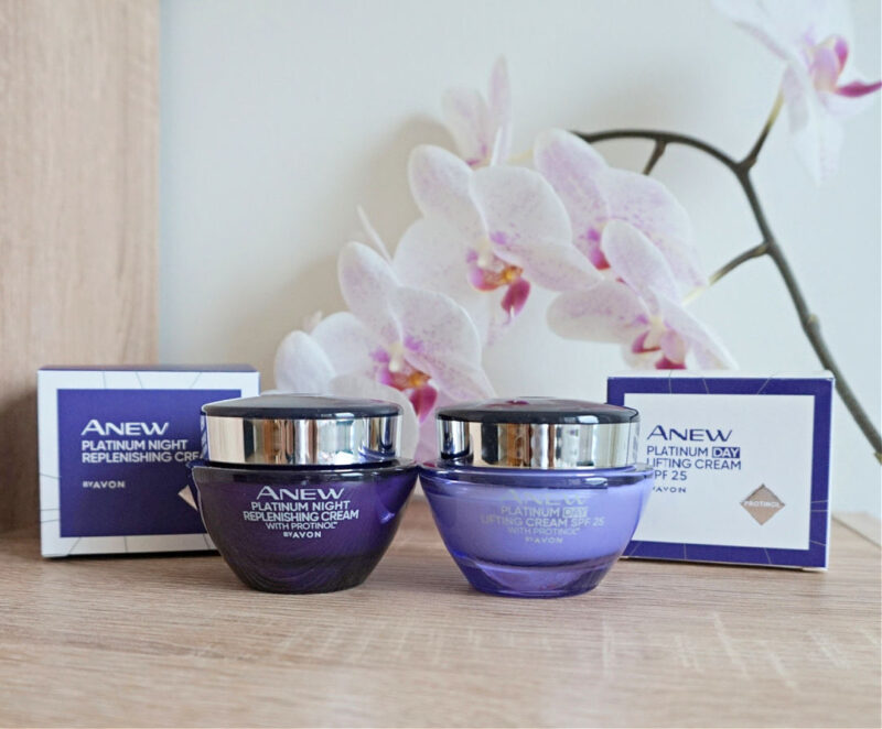 Avon Anew Platinum Night Replenishing Cream and Day Lifting Cream SPF25 with Protinol