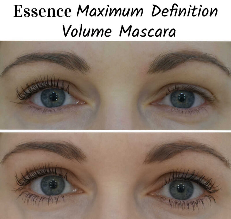 Essence Maximum Definition Volume Mascara before after
