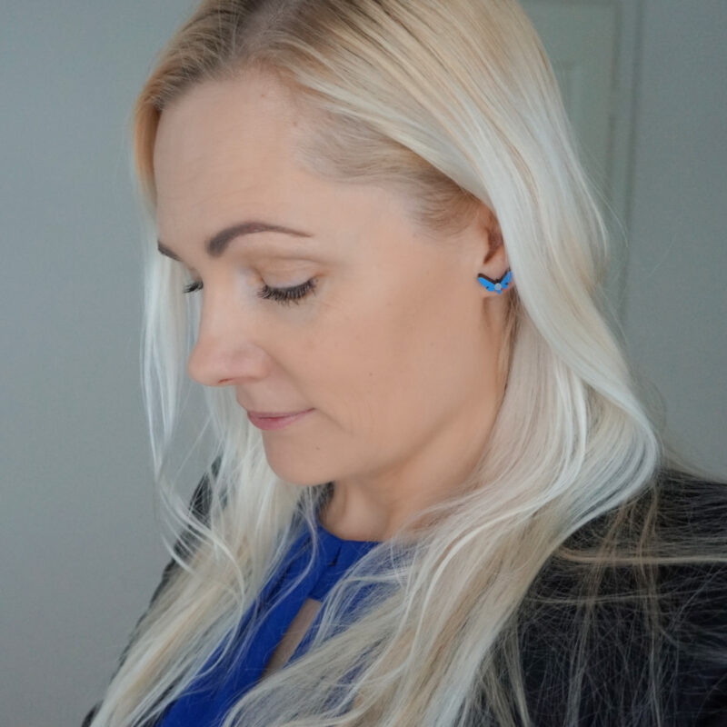 blue Kuma Butterfly Effect Earrings