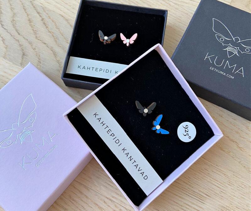 Kuma Butterfly Effect earrings