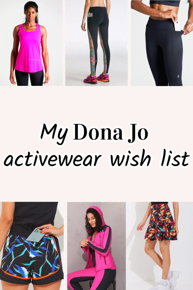 My Dona Jo activewear wish list