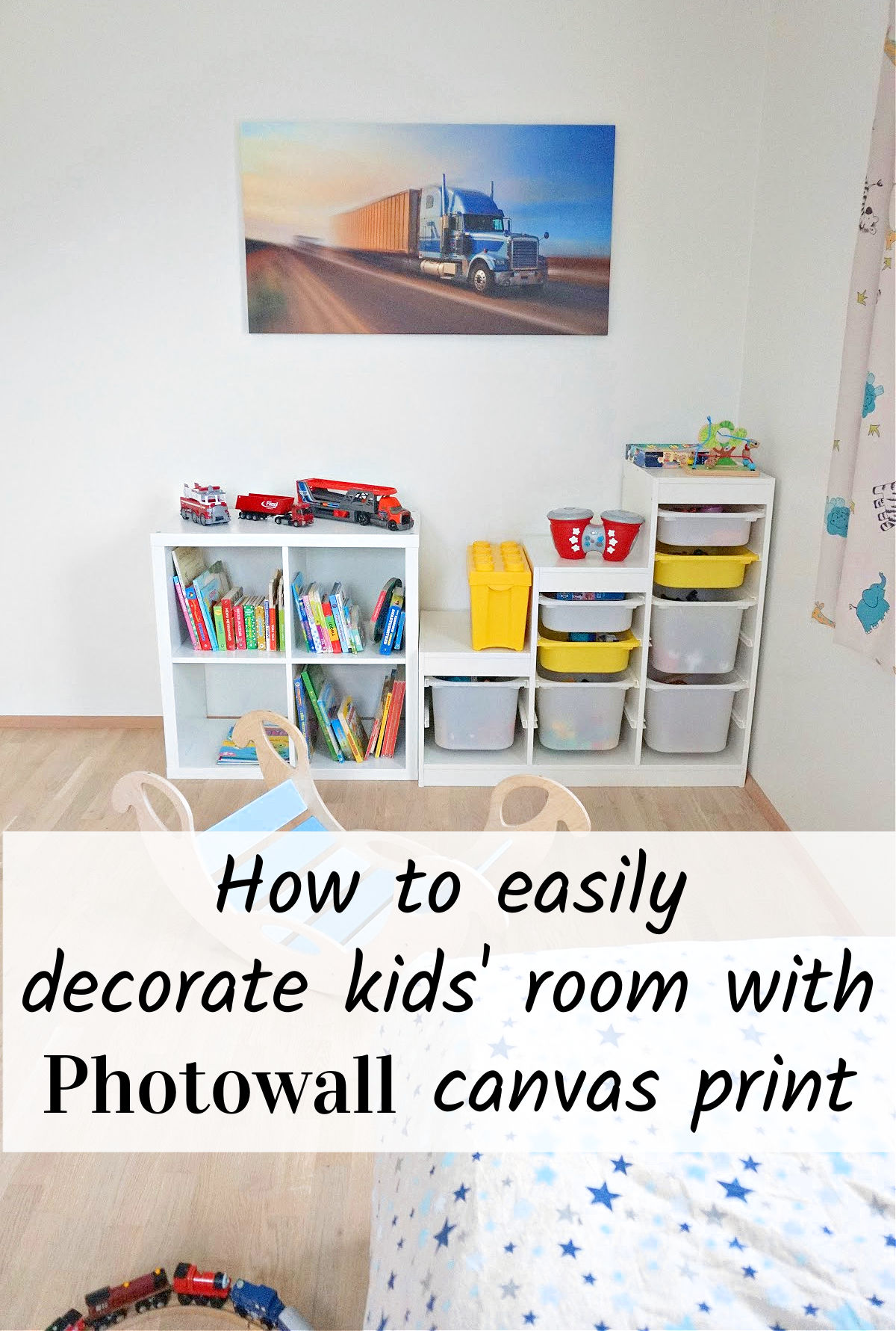 How to easily decorate kids' room with Photowall canvas print.