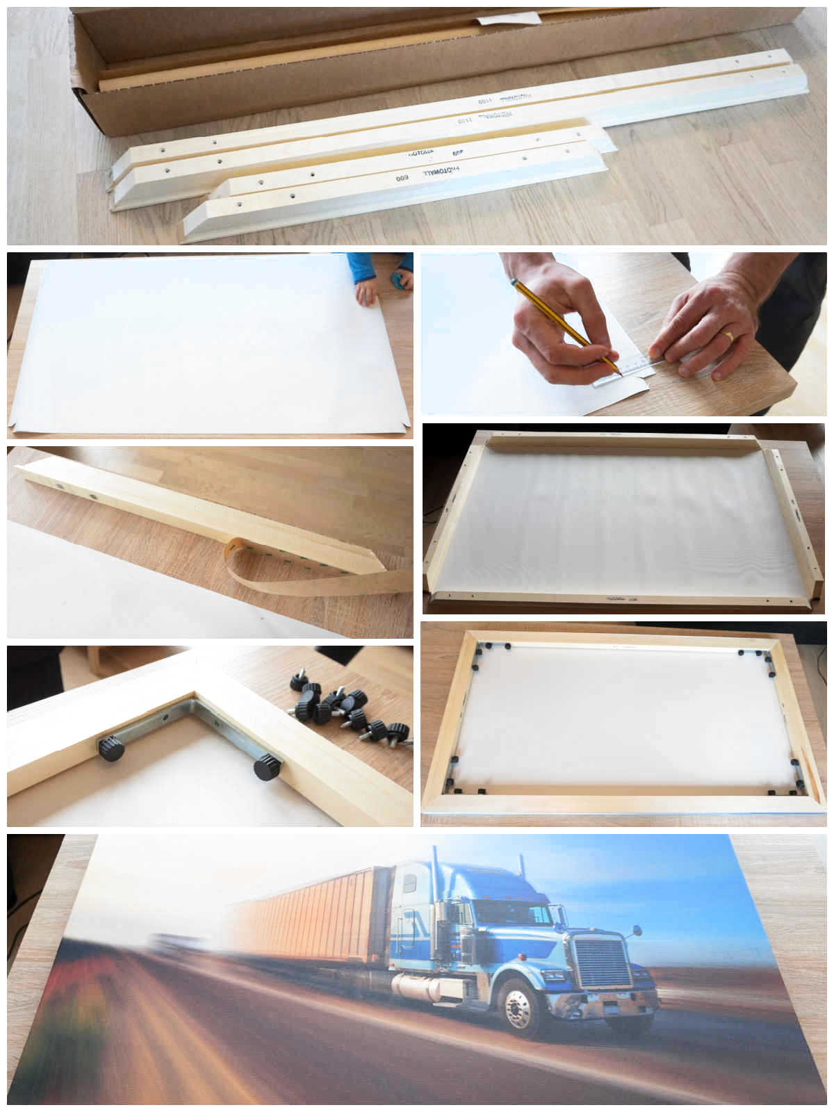 How to assemble Photowall canvas print
