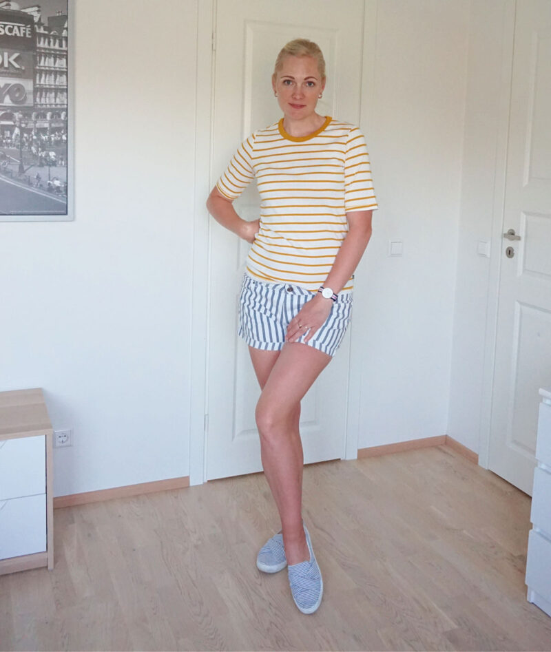 stripes on stripes outfit for summer