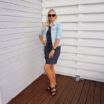 Striped dress and denim jacket & Weekly LINK UP #233