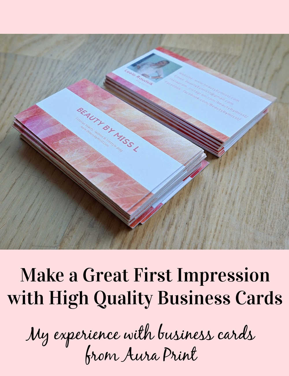 Make a great first impression with high-quality business cards. My experience with business cards from Aura Print.