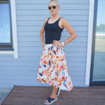 Black and floral OOTD for summer & Weekly LINK UP #234