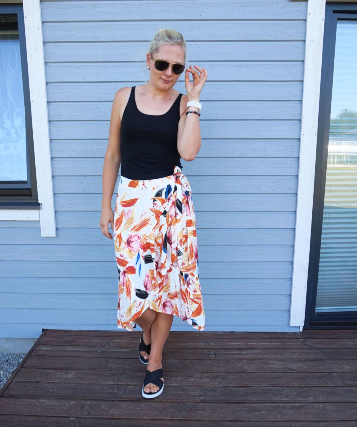 Lindex Wendy wrap skirt Ecco Flow LX W sandals